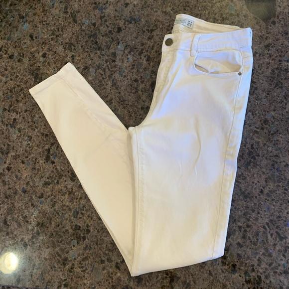Zara Trafulac Cream Skinny Jeans 4 US Off White